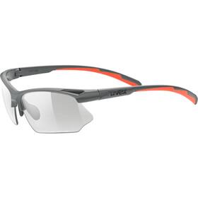 UVEX Sportstyle 802 V Glasses grey matt/smoke